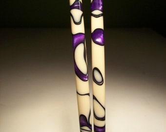 "Purple Sands  5"" 6"" 7"" acrylic Hair sticks."
