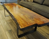 Live Edge Maple Slab Coffee Table  **Freed delivery in NYC area