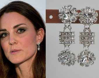 kate middleton inspired leaf earrings e440 by