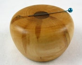Wooden Magnetic Needle Keeper  - Apple and Ziricote Wood, Handmade by Greg Hanson