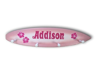 Pink Surfboard Peg Rack