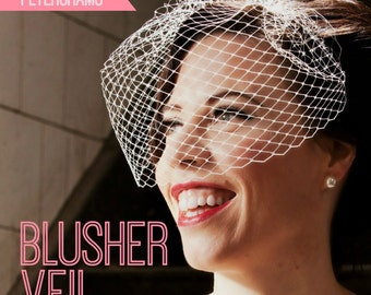 DIY Hat Kit! Make your own Bridal Blusher Veil- Includes detailed instructions and materials- 23 colours!