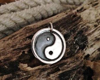 Coexist pendant coexist necklace peace sign necklace yin yang necklace sterling silver necklace silver pendant sterling silver pendant aloadofball Images