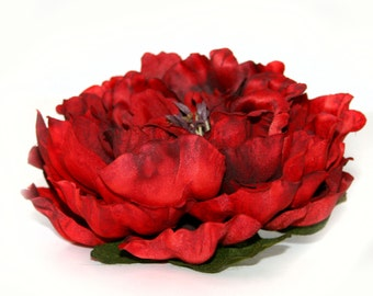 3 Jumbo Two-Tone Red Peony - Boutique Style - PRE-ORDER - Save 15%