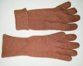 Comfy Brown Aris Angora Lambswool Nylon Lady's Gloves