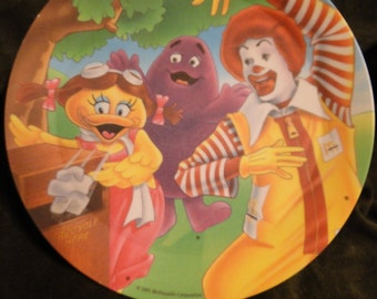 """Vintage McDonald's Plate Recycle Here 1991 - 8 1/2"""" plate"""