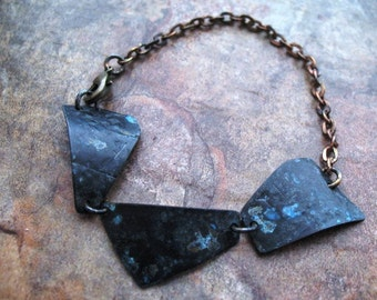 SALE Shards Blackened Brass Bracelet