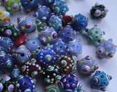 lampworked glass beads rounds and rondelles - 56