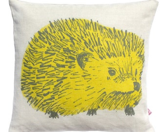 Hedgehog Junior Cushion - Yellow