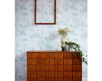 Woodlands Wallpaper - Blue