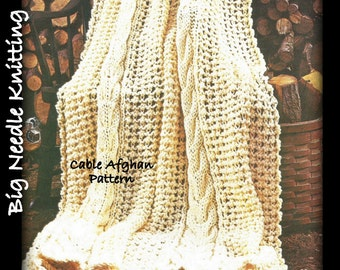 Knitted Afghan Patterns With Big Needles : Popular items for big needle on Etsy