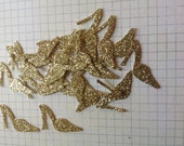 50 pc Gold GLitter High Heel Shoe  Confetti    Bridal Shower   Party  Wedding