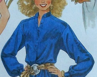Vintage Blouse Sewing Pattern UNCUT McCalls 7873 Size 12