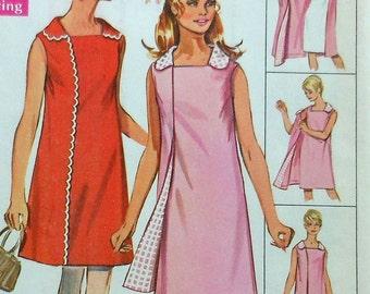 Vintage Front Wrap Dress Sewing Pattern UNCUT Simplicity 8080 Size 12
