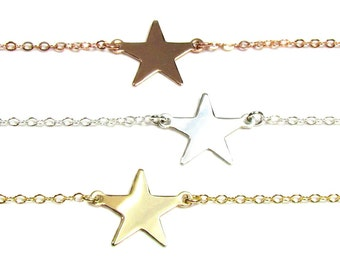 Star Necklace, Emma Watson Perks of being a Wallflower Movie, Gold Filled, ROSE Gold Filled or Sterling Silver