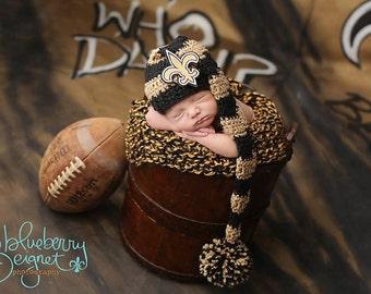 New Orleans Saints Elf Hat with Detachable Accessories