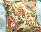 """TANGIER FLORAL (1) - Ralph Lauren Fabric - One Custom Made Pillow Cover for 16"""" x 16"""" Pillow"""