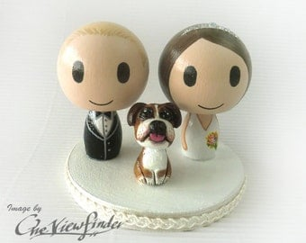 "Customize 2"" Wedding Cake Topper with pet"