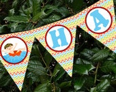 Pool Swim Party Summer Boy Banner Printable - Stick to Your Story