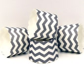 Cupcake Cups, 20 Grey Chevron Cupcake Liners, Cupcake Baking Cup, Cupcake Liners, Candy Cups, Nut Cup, Party Favor, Baking Supplies, Wedding