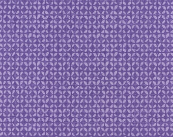 Field Study Fabric by Alice Kennedy for Timeless Treasures Geometric Tonal Purple Leaves Orchid
