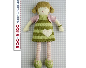 Grace - girl doll toy knitting pattern