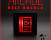 Arcade Belt Buckle... that lights up - 25 Cent Double Lines