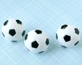 Soccer Ball Cupcake Toppers - Black and White Soccer Ball Cupcake Rings (12)