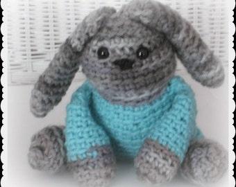 Bobby Bunny Amigurumi, Crochet bunny toy