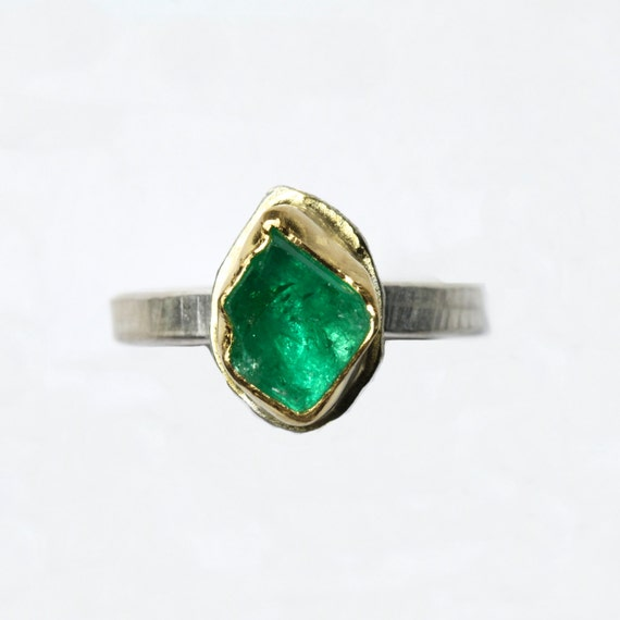 Rough Muzo Emerald Engagement Ring 22k Yellow Gold Silver. Copper Leaf Engagement Rings. Famous Wedding Rings. Metal Rings. Price Rupee Rings. Mix And Match Wedding Rings. Bezel Diamond Engagement Rings. Wide Rings. Semi Mount Engagement Rings