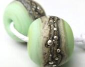 Kaz Baildon Lampwork Earring Bead Pair SRA UK FH