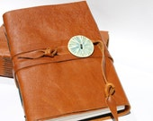 """Handmade Leather Journal - 4 1/2"""" x 6"""" 140 lb Watercolor Paper - Art Sketchbook Scrapbook"""