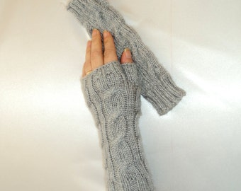 Grey, Belted Mittens ,Handmade Mittens, Fashion, Christmas