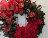 Christmas Wreath Red With Red Berries