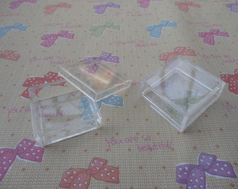 Set of 30 PCS-Small Clear Plastic Boxes, Display Boxes, Clear Display Cases,Transparent plastic box