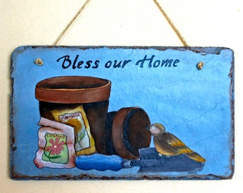 Bless Our Nest Slate Welcome Sign