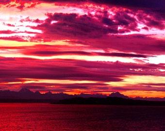 Simply stunning Crimson Sunset Panorama