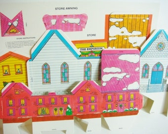 Current Holiday Gift Boxes - Set of 4 - Winter Town Scene Boxes - Winter Village