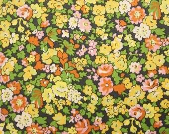 Liberty tana lawn printed in Japan - Natalie - Yellow khaki mix