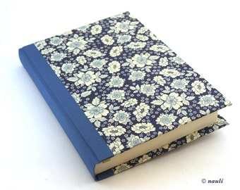 Large Day Planner 2016 English Flower blue floral planner, A5 diary