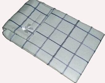 Lilac & Cream Check eReader Gadget Laptop Case Cover Bag fits Kindle Tablet - Gift Idea