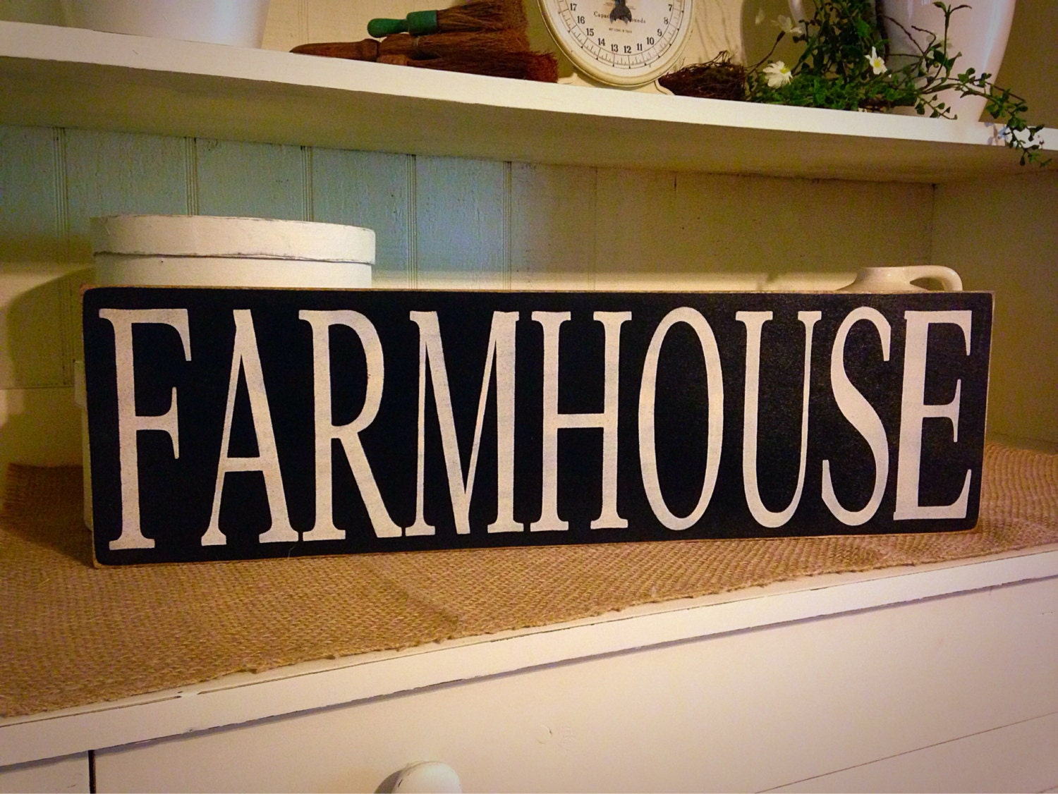 Farmhouse sign primitive wood sign by daisypatchprimitives on etsy