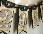 2017 Banner - 2016 New Years Banner - New Years Decor - New Years Eve Decor - 2017 Graduation Banner (silver and black)