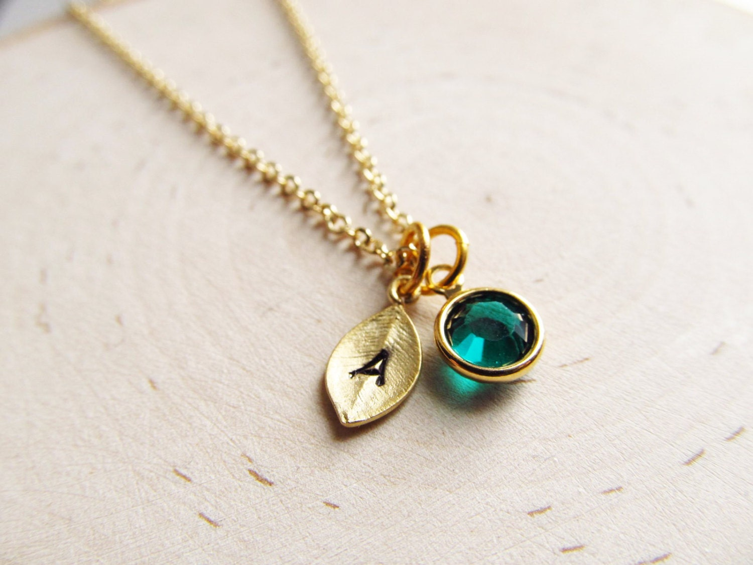 initial birthstone necklace gold birthstone necklace. Black Bedroom Furniture Sets. Home Design Ideas