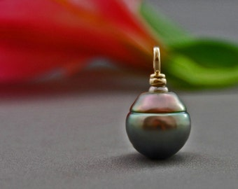 Kanani - Large Tahitian Circlé peacock pearl pendant, necklace, pearl jewelry, pendant, for her, anniversary, gift idea, woman, fashion