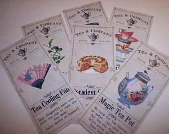 Tea & Company Magic Tea Steampunk  Apothecary Labels Set of 6