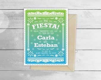 Papel Picado Fiesta Wedding Design Invitation