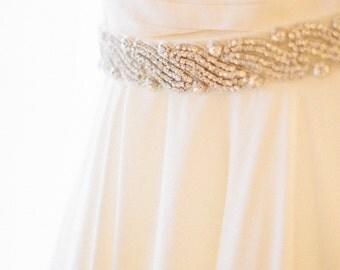 Bridal Sash Rhinestone Bead Belt Bridal Beaded Rhinestone Sash For Wedding Dress Bridal Belt