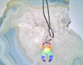 Gay Pride Awareness Cell Phone Charm (39), phone, charm, dangle, embellishment, bag charm, unique visions by jen