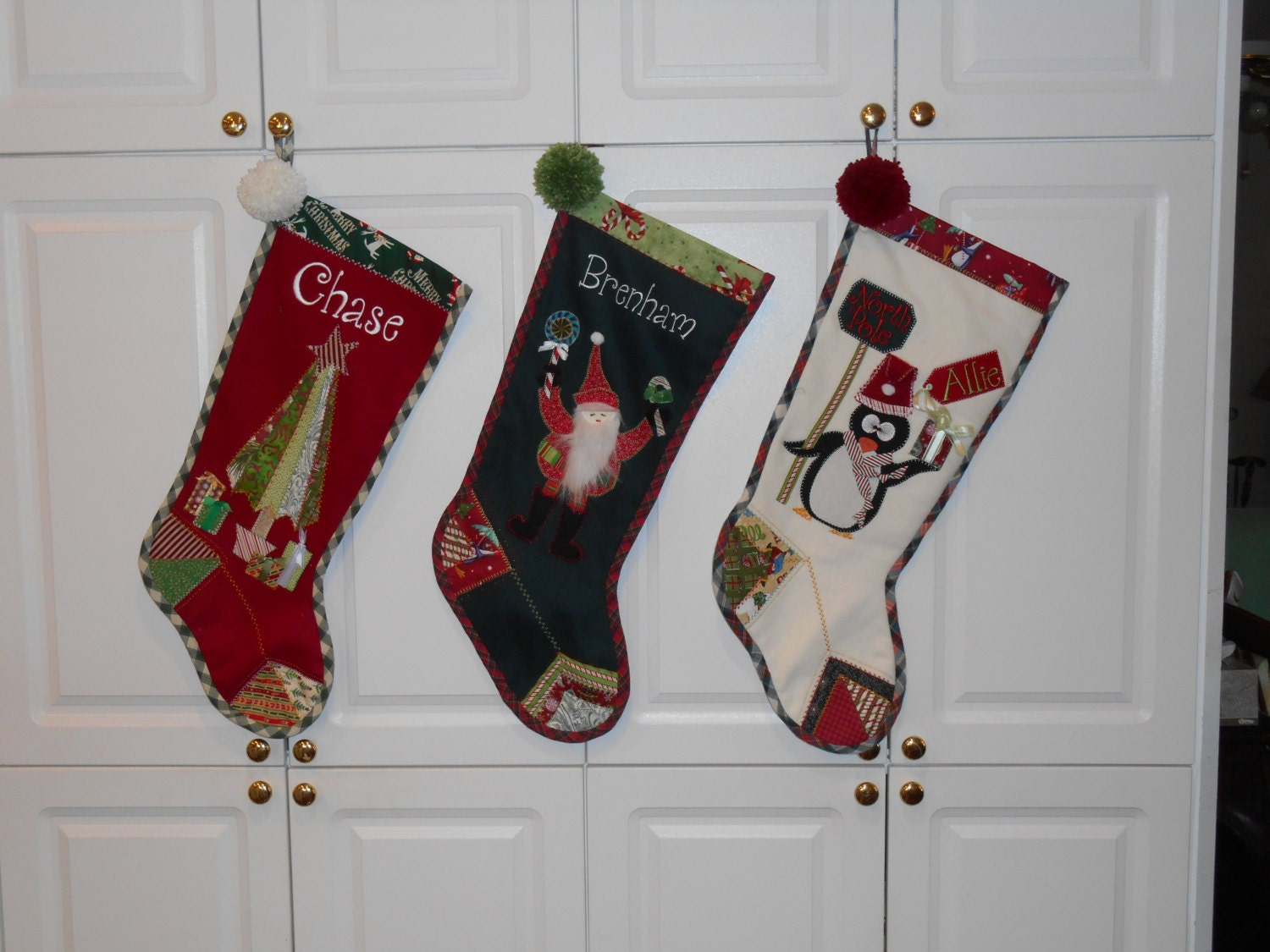 Christmas stocking personalized custom made holiday for Custom made christmas stockings